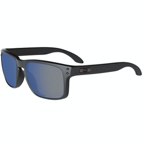 Oakley Holbrook Polarised Sunglasses - Matte Black ~ Ice Iridium