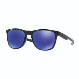 Oakley Trillbe X Gepolariseerd Zonnebril - Matte Black Ink ~ Violet Iridium