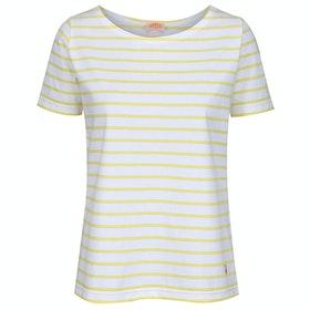 Armor Lux Marinière Hoëdic Women's Short Sleeve T-Shirt - Blanc Rayon