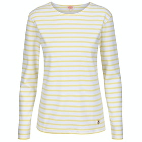 Armor Lux Mariniere Interlock Women's Long Sleeve T-Shirt - Blanc Rayon