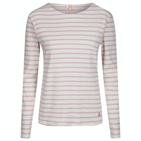 Armor Lux Mariniere Interlock Women's Long Sleeve T-Shirt - Nature Craie