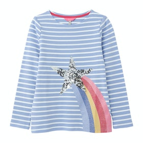 Joules Harbour Luxe Girls Top - Blue Shooting Star