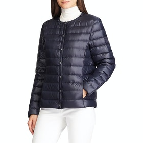 Lauren Ralph Lauren Collarless Packable Womens Bunda - Navy