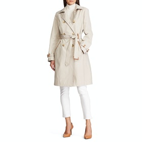 Lauren Ralph Lauren Trench Cotton Womens Bunda - Tone Cream