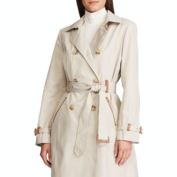 Lauren Ralph Lauren Trench Cotton Women's Jacket