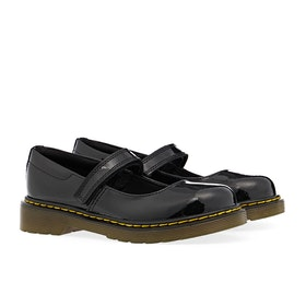 Dr Martens Maccy Kinder Dress Shoes - Black Patent Lamper