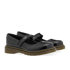 Dr Martens Maccy Kid's Dress Shoes - Black Patent Lamper