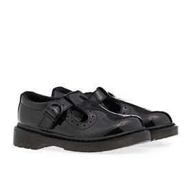 Dr Martens Polley Brogue T Kinder Dress Shoes - Black
