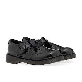 Dr Martens Polley Brogue T Kid's Dress Shoes - Black