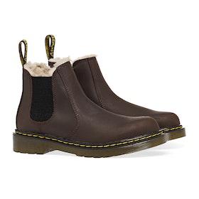Dr Martens 2976 Leonore Kid's Boots - Dark Brown Republic Wp