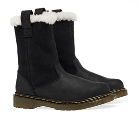 Dr Martens Juney Kinder Stiefel - Black Republic Hi Suede Wp
