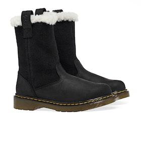Dr Martens Juney Kid's Boots - Black Republic Hi Suede Wp