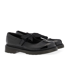 Dr Martens Maccy II Junior Kinder Dress Shoes - Black Patent Lamper