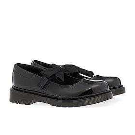 Dr Martens Maccy II Junior Kid's Dress Shoes - Black Patent Lamper