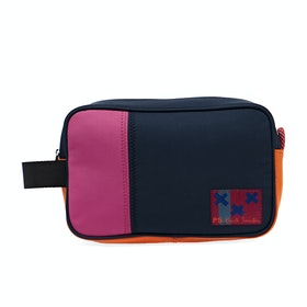 Paul Smith Wrist Col Block Nyl Women's Wash Bag - Navy