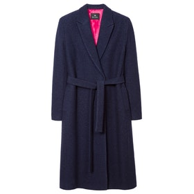 Paul Smith Wool Blend Wrap Womens Bunda - Dark Navy