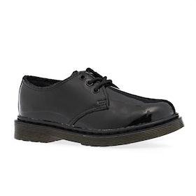 Dr Martens 1461 Kids Boots - Black Patent Lamper