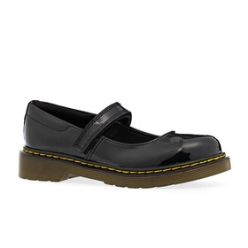 Dr Martens Maccy Kids Dress Shoes - Black Patent Lamper