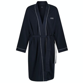 BOSS Contrast Kimono Dressing Gown - Dark Blue