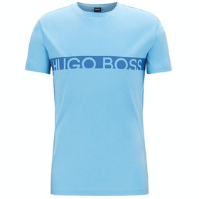 BOSS Round Neck Short Sleeve T-Shirt - Light Blue