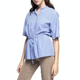 Gant Drawstring Blouse Women's Top - Periwinkle Blue