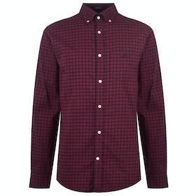 Gant Winter Twill Buffalo Check Shirt - Port Red