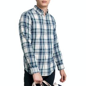 Gant Windblown Flannel Indigo Shirt - Putty