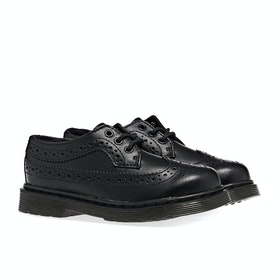 Dr Martens Brogue Kid's Dress Shoes - Black