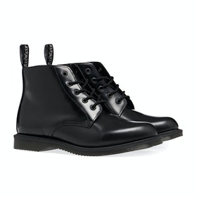Dr Martens Emmeline 5 Eye Damen Stiefel - Black Polished Smooth