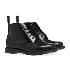 Dr Martens Emmeline 5 Eye Women's Boots - Black Polished Smooth