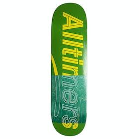 Alltimers Trace Logo Green 8.5 inch Skateboard Deck - Green