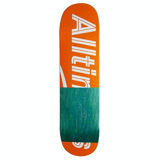 Alltimers Trace Logo Orange 8.1 Skateboard Deck