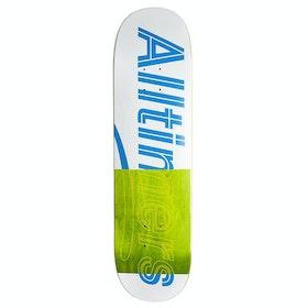 Alltimers Trace Logo White 8.25 Skateboard Deck - White