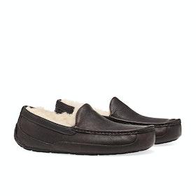 UGG Ascot Leather Mens Pantofle - China Tea