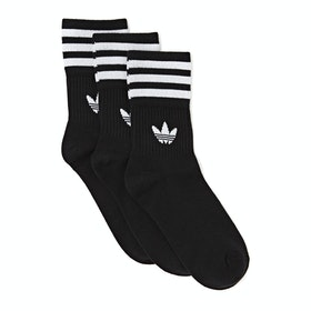 Adidas Originals Mid Cut Crew Sports Socks - Black
