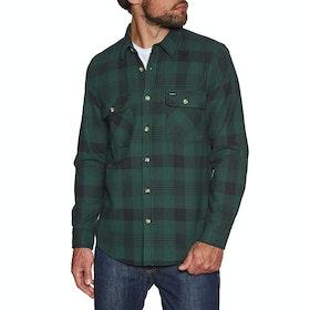 Brixton Bowery Flannel Shirt - Black Green