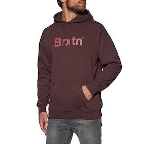 Brixton Gate Hood Pullover Hoody - Plum