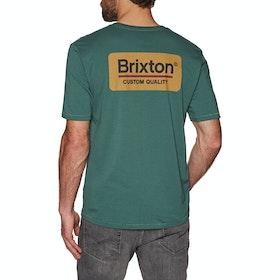 Brixton Palmer Premium Short Sleeve T-Shirt - Emerald Gold