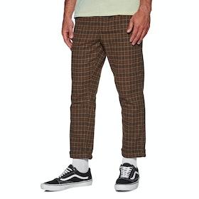Brixton Regent Trousers - Brown Plaid