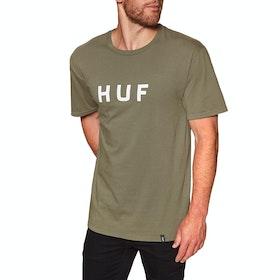 Huf Essentials OG Logo Short Sleeve T-Shirt - Martini Olive