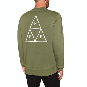 Sweat Huf Essentials Triple Triangle Crew - Martini Olive