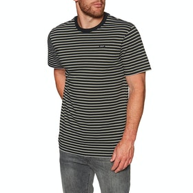 Huf Davis Striped Knit Short Sleeve T-Shirt - Black