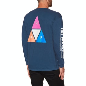 T-Shirt à Manche Longue Huf Prism Triple Triangle - Insignia Blue