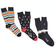 Corgi 3 Pack Cotton Gift Box Men's Fashion Socks