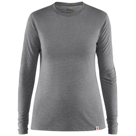 Top Camada Base Senhora Fjallraven High Coast Lite Long Sleeve - Shark Grey