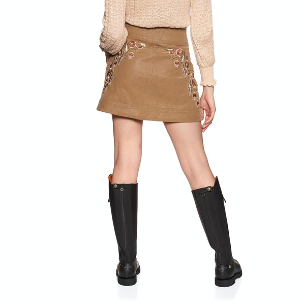 Free People Alanis Moto Mini Womens Sukně