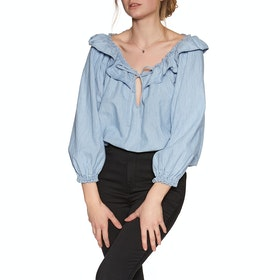Free People Lily Of The Valley Women's Shirt - Blue