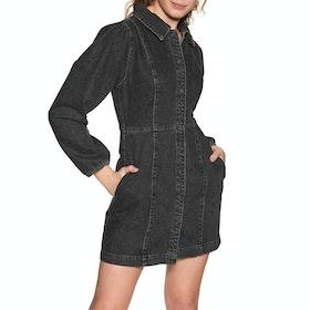 Free People Mia Denim Mini Women's Dress - Black