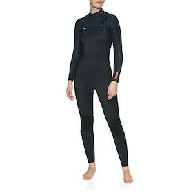 O'Neill Hyperfreak 5/4 + Chest Zip Full Womens Wetsuit - Black