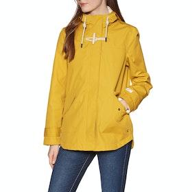 Joules Coast Womens Waterproof Jacket - Antique Gold